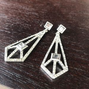 BCBGeneration Edgy geometric silver earrings